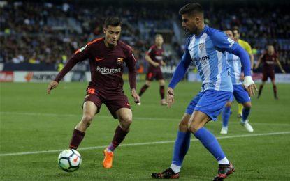 Barcelona con Yerry Mina de suplente derrotó al Málaga