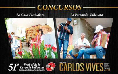 La parranda vallenata y la casa festivalera, dos concursos populares del Festival