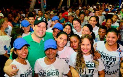 José Alfredo Gnecco agradeció respaldo que le permitió obtener la mayor votación en el Cesar