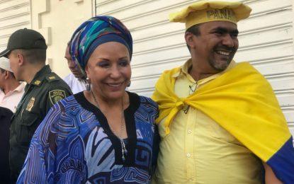 Candidata presidencial Piedad Córdoba dice que no cree mucho en las encuestas