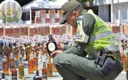Policía Cesar decomisó $483 millones en licores y cigarrillos adulterados