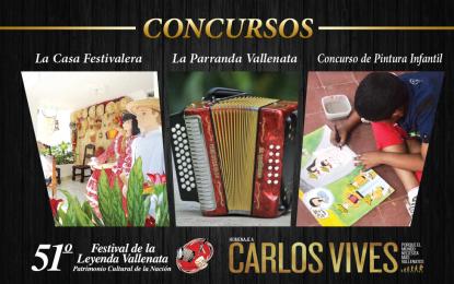 Hasta el 9 de abril estarán abiertas las inscripciones para tres concursos del Festival Vallenato