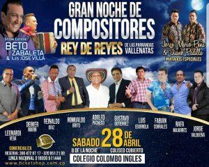 Diez maestros de la música vallenata estarán en la noche de compositores: Rey De Reyes