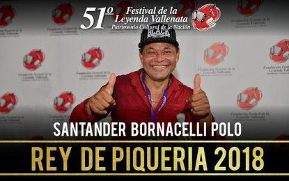 Santander Bornacelli Polo es el nuevo Rey de la Piqueria del 51° Festival Vallenato