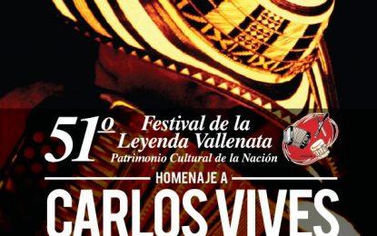 80 acordeoneros profesionales competirán en el 51° Festival Vallenato en homenaje a Carlos Vives