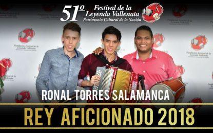 Ronal Torres Salamanca es el nuevo Rey Aficionado del 51° Festival Vallenato