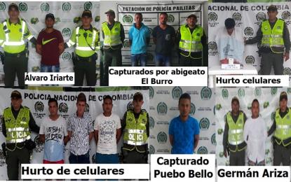 Policía Cesar capturó a nueve presuntos atracadores