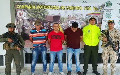 Capturados tres sujetos en el Cesar vinculados al ELN