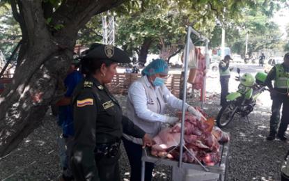 1.741 kilos de carne de dudosa procedencia decomisadas este año en Valledupar