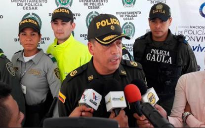 En un año, Policía desarticuló 46 estructuras criminales en Cesar