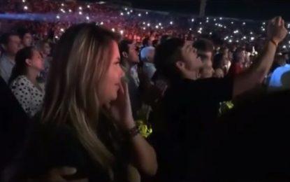 Esta fue la reacción de Dayana Jaimes durante el homenaje de Carlos Vives a Martín Elías