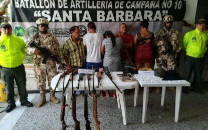 Capturan cinco personas que tenían en jaque a los pobladores del sur de La Guajira