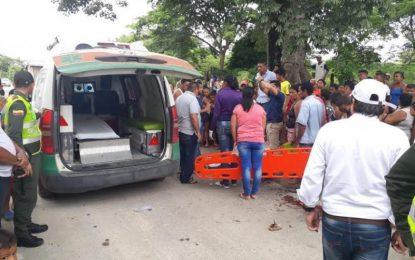 Dos niños mueren en accidente de tránsito en Cesar