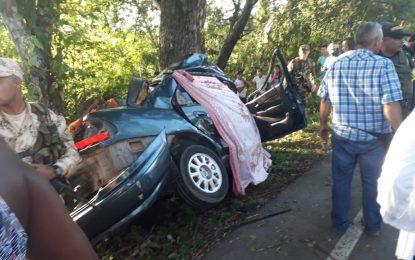 Mueren cuatro integrantes de la iglesia Pentecostal de Valledupar en accidente en  Cesar
