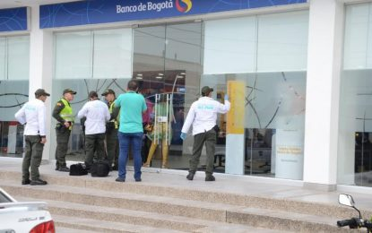 $4 millones se habrían robado de la sede principal del Banco de Bogotá en Valledupar