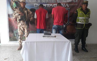 Capturan dos sujetos cuando transportaban marihuana en un bus de servicio público en Riohacha