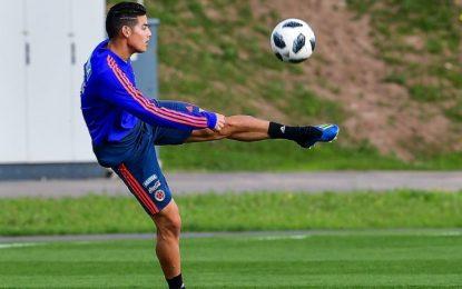 James Rodríguez será titular el domingo ante Polonia