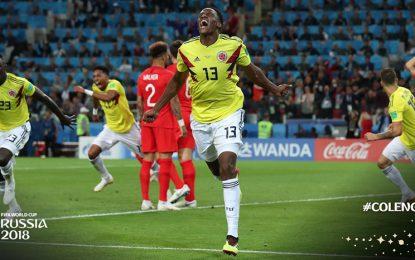 Así narraban el gol de Yerry Mina, que puso a soñar a Colombia ante Inglaterra