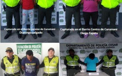 La Policía capturó en el Cesar a cuatro hombres acusados de delitos sexuales