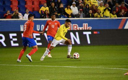 """Colombia venció a Costa Rica 3-1 con doblete del debutante el """"Cucho"""" Hernández"""