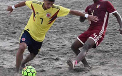 Colombia goleó a Venezuela 4-1 en la Sudamericana de Fútbol Playa