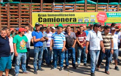 Camioneros del Cesar se unen al paro nacional
