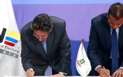 Fiscalía y CNE firman acuerdo de cooperación para investigación y judicialización de delitos electorales