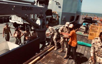 Armada entregó 170 toneladas de ayuda humanitaria a afectados por inundaciones en la Alta Guajira