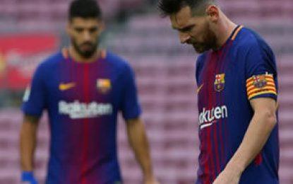 Antes de lo esperado Messi vuelve a entrenar con el Barcelona