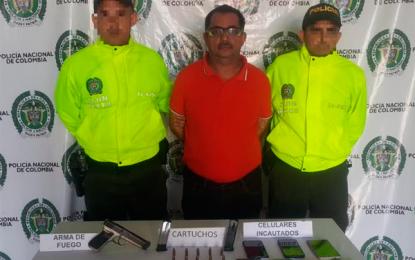 En Valledupar capturan sujeto que supuestamente compraba celulares robados
