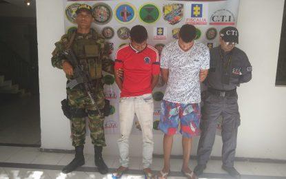 Capturan presuntos extorsionistas de comerciantes del sur del Cesar