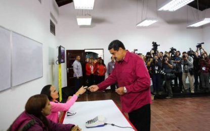 Maduro: Venezuela demuestra su vocación democrática en las urnas
