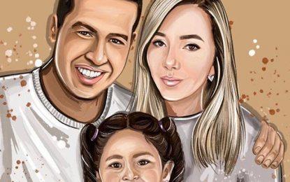 Así se vería hoy Martin Elías con Dayana y su hija Paula