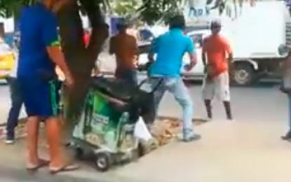 Abren investigación a policías por golpear a ciudadanos que protagonizaban riña en Valledupar