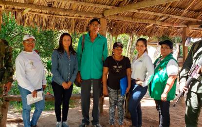Víctimas de abandono forzado por la presión paramilitar recuperaron predio en El Copey