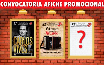 Abierta convocatoria para el afiche promocional del 53° Festival de la Leyenda Vallenata