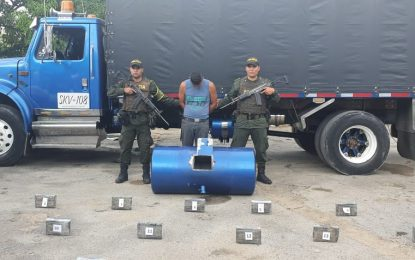 70 mil gramos de clorhidrato de cocaína eran transportados en un tanque de combustible en carreteras de Cesar