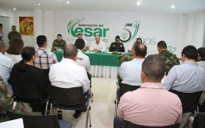 En consejo de seguridad adoptan medidas de orden público en Cesar por paro del 21 de noviembre