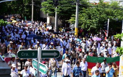 Masiva asistencia durante la marcha en Valledupar
