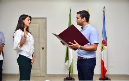 María Raiza Fuentes nuevaSecretaria de Obra de Valledupar