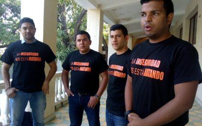 Concejales realizaron particular  protesta para exigir al Alcalde  mano dura contra la inseguridad