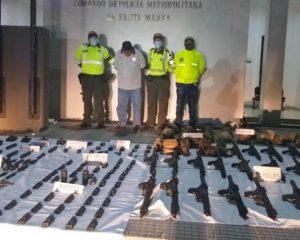 A la cárcel hombre capturado con arsenal en la vía Barranquilla – Santa Marta