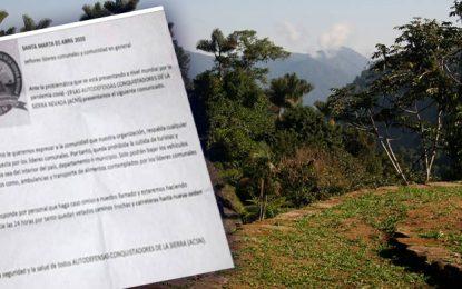 Con panfleto firmado por supuesto grupo de autodefensas,  prohíben subida a la Sierra Nevada