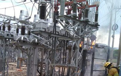 Transelca informó que tras la conflagración en subestación Valledupar, trabaja para restablecer el servicio de luz
