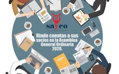 ¡Sayco rinde cuentas a sus socios en la asamblea general ordinaria 2020!