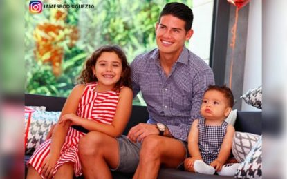 Tras el reencuentro con sus dos hijos en España, James Rodríguez no se cambia por nadie y expresa su alegría por las redes