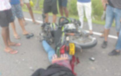 Motociclista perdió la vida al chocar con un 'carro e mula'