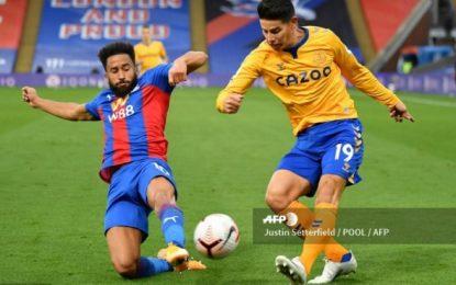 James Rodríguez sobró en el partido donde Everton derrotó al Crystal Palace