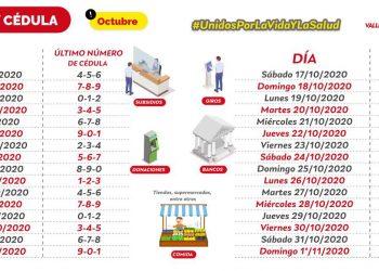 Pico y Cédula en Valledupar hasta el 31 de Octubre