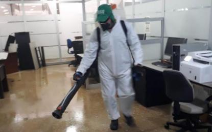 Emdupar desinfectó su sede y realizó 60  pruebas Covid-19 entre sus funcionarios